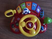 Tiny tootoot driver steering wheel