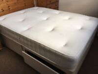 Double bed, divan with 2 drawers and memory foam top