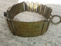 Antique nickle silver plate dog collar