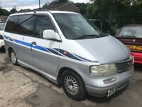 Nissan largo 2.0 diesel automatic e reg 1997! 7-seater!! RUNNER OR SPARES!! NO TAX OR TEST!! £400!!