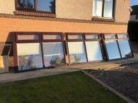 UPVC Conservatory Double Glazed Windows (x4) & Door (x1)
