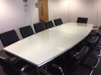 Boardroom Table & Leather Look Chairs