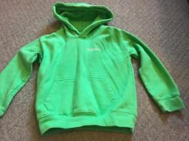 Super dry green hoody 1-2 years