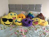 9 emoji pillows