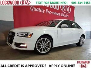 2016 Audi A4 2.0T Progressiv plus AWD, NAVI, LEATHER, SUNROOF