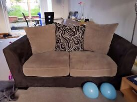 2 seater and 3 seater settee black and grey. 100 collect only little chell area.