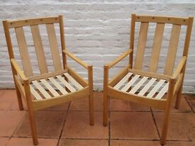 Vintage Pair Of 1986 Ercol Chair Frames