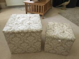Storage boxes ottoman footstall