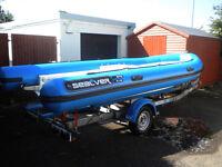 SEALVER 575 RIB BOAT - JET SKI POWERED + TRAILER £10500