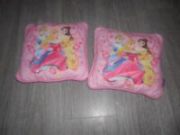 Princess cushions x 2