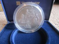 2003 Silver Proof 5oz .999 Commemorative £10 Annual History MMIII coin in excellent condition.