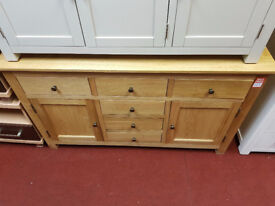 knightsbridge solid oak sideboard 105