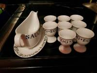 Egg cups and gravy boat
