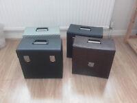 """Vinyl record - 12"""" - storage cases x 4"""