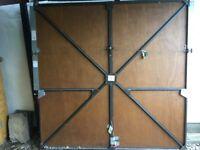 Solid wood garage door 210cm x 210 cm