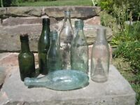 Collection of vintage bottles. 7 bottles. £5.00 the lot.