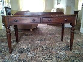 Vintage wood 2 draw console table
