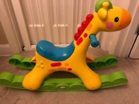Fisher Price Rockin' Tunes Giraffe Baby Ride On Toy Boys Girls rideon