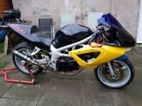 Suzuki sv650 race track bike supertwin