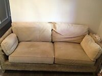 Rattan, marks and spencer sofa