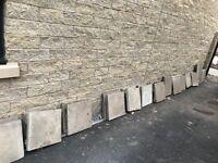 32 450mm x 450mm concrete paving slabs