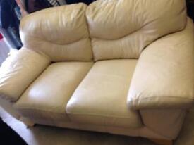 2seater leather sofa