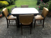 FREE - 1950's Dining Table and 4 Chairs