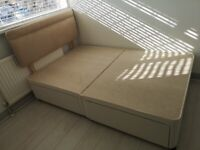 Double bed with headboard and 4 drawers - Lightly Used