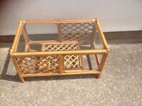Bamboo / wicker coffee table - SOLID -