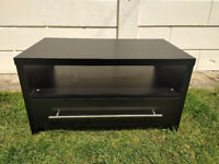 TV Cabinet / Stand / Unit / Table - Black + Drawer