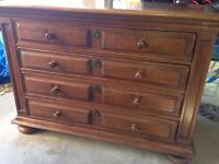Oak drawer unit / sideboard