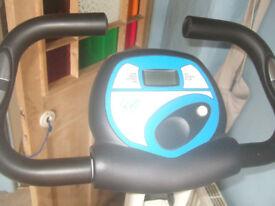 'Davina' Exercise bike, hardly used, battery operated display
