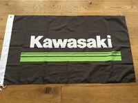Kawasaki motorcycles workshop flag banner KDX KMX Ninja