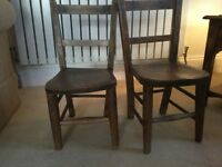 Two little children's chairs