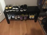 Black Ikea shoe rack / storage / bench
