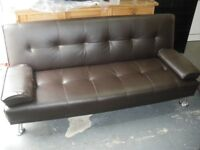 FOLDING LEATHERETTE SOFA/BED at Haven Housing Trust's charity shop