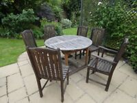 Teak Garden Furniture set - restoration project