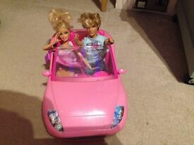 Barbie Convertible Car, Ken (he also talks but needs new batteries) & Barbie Figures.