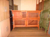 brand new 4ft 2 tier rabbit guinea pig hutch in cedar red