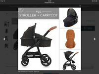 Egg (3 in 1) pram/strolller. In immaculate condition - like new!