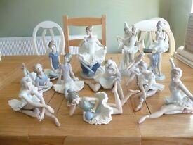Lladro & Nao Ballerina Collection - 12 in total