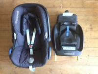 Maxi-Cosi CabrioFix Baby Car Seat (Black Jacquard) + optional EasyFix ISOFIX or EasyBase 2 seat base