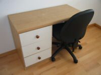 Desk w/Drawer~Bedroom Computer Wood Wooden Dressing Child Study Table Chair