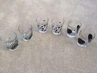 6 Glasses (3 Matching Pairs)