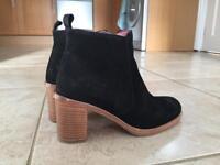 Dune black nubuck ankle boots, size 4, £30