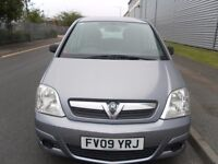 2009 VAUXHALL MERIVA 1.6 MPV LOW MILEAGE LONG MOT VERY ECONOMICAL AND RELIABLE CAR