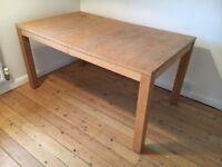 Oak Veneered Dining Table