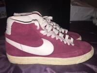 Burgundy Nike Blazers - size 8