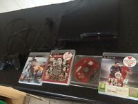 PS3, great condition, power cable & 4 games £45