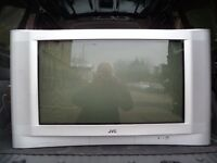 "JVC AV-32 T4SK 32"" CRT TV with table, Digi Box & all cables"